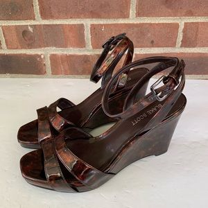 Like new Blake Scott Gannett brown platform sandal